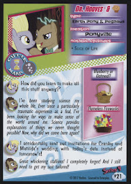 My Little Pony Dr. Hooves & Muffins Series 4 Trading Card
