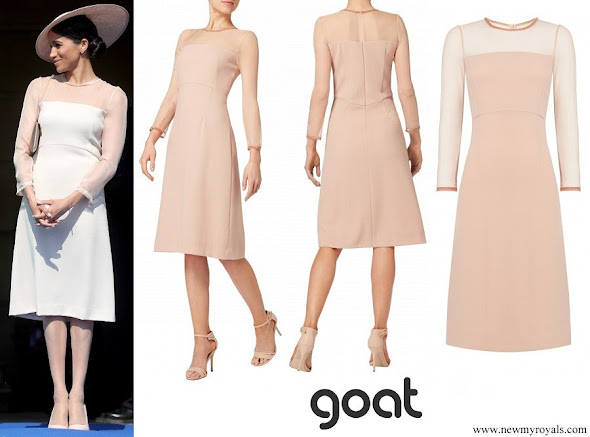 Meghan Markle wore Goat Fashion Flavia Dress in Old Rose