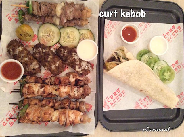 Curt Kebob- Kebob Platter and Pita Wrap. I would love to see  Falafel included in their line up one day.