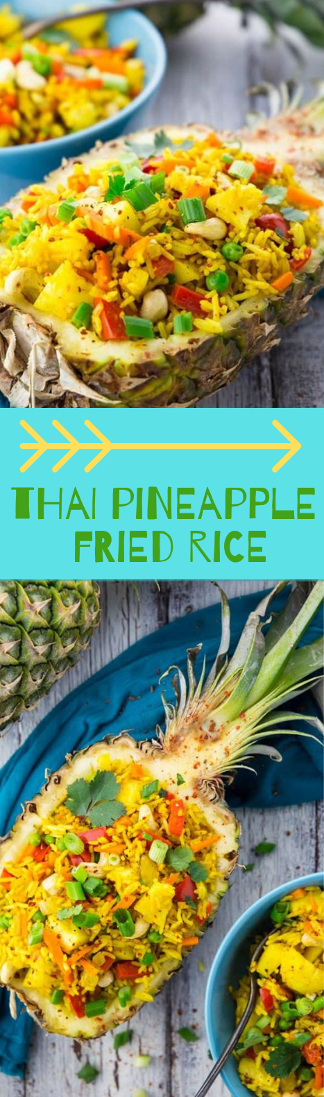 THAI PINEAPPLE FRIED RICE RECIPE (VEGAN) #vegetarian #pineapple