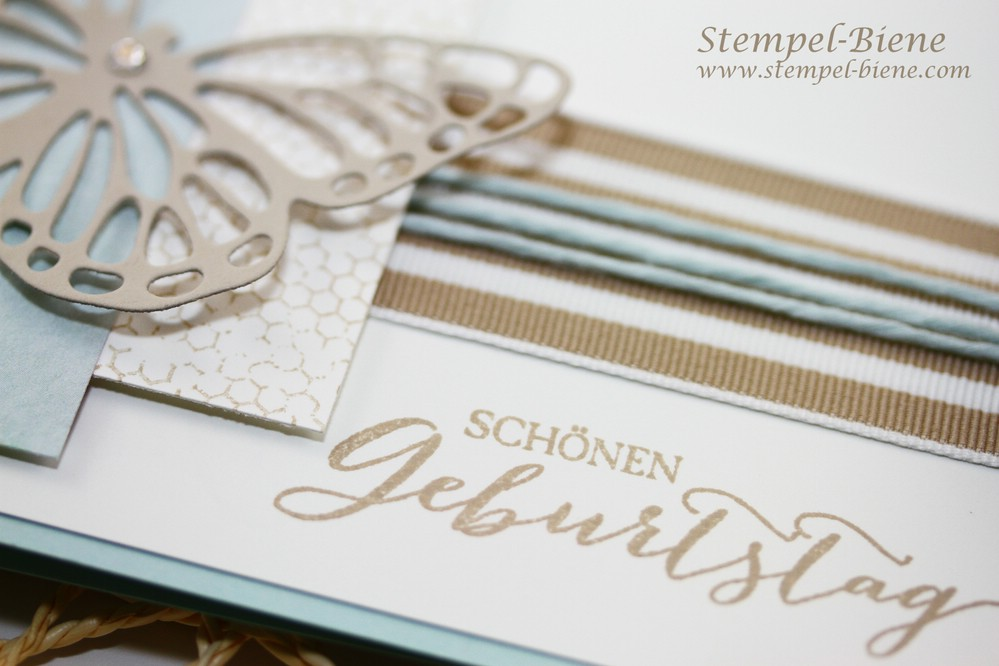 Stampin Up Schmetterlingsgruß, Match the Sketch, Stempel-Biene, Stampin Up Sale a bration, Stampin up Frühjahrskatalog, Stampin Up Einfache Karte, Stampin Up Sammelbestellung, Stampin Up Stempelparty