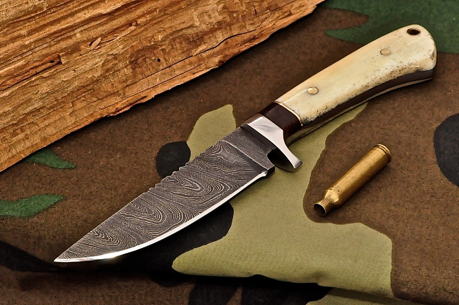 handmade knives knife store cfk usa custom handmade damascus camel bone 2464