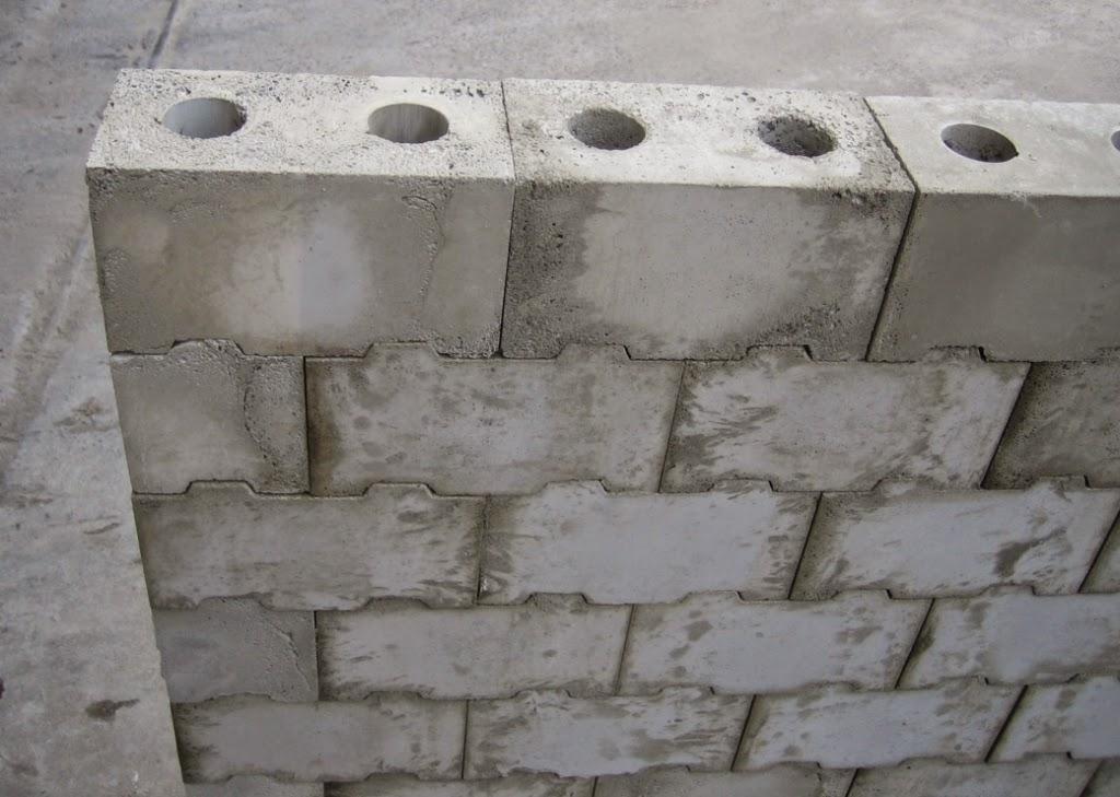 Stonework Granite Block : Dry stacked interlocking masonry system mortarless