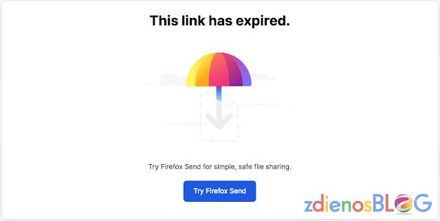 link expired - Firefox Send - Cara Cepat Mengirim File dengan Aman