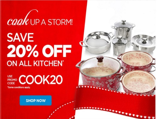 The Shopping Channel Flash Sale 20% Off Kitchen Items Promo Code