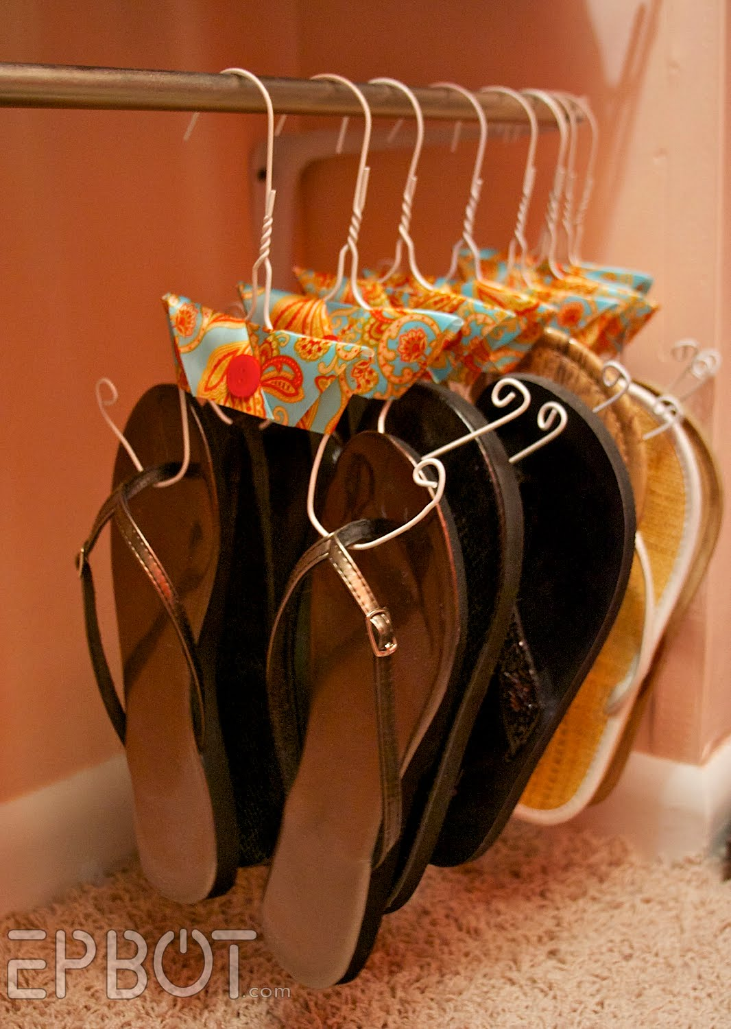 1 Make Four Piles The Great Closet Clean Out Is Your: DIY – Shoe Hangers