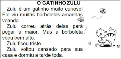 Texto O GATINHO ZULU, de Elisângela Terra