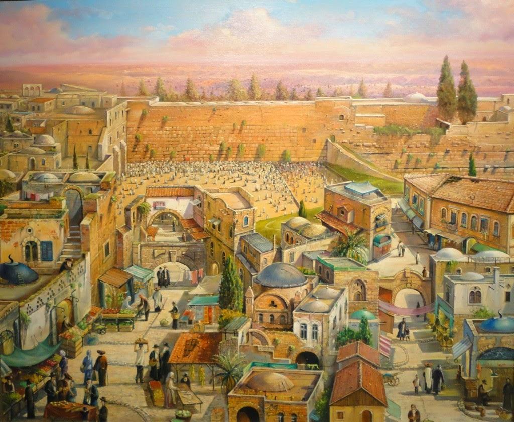 Alex Levin - Pintura da cidade de Jerusalém