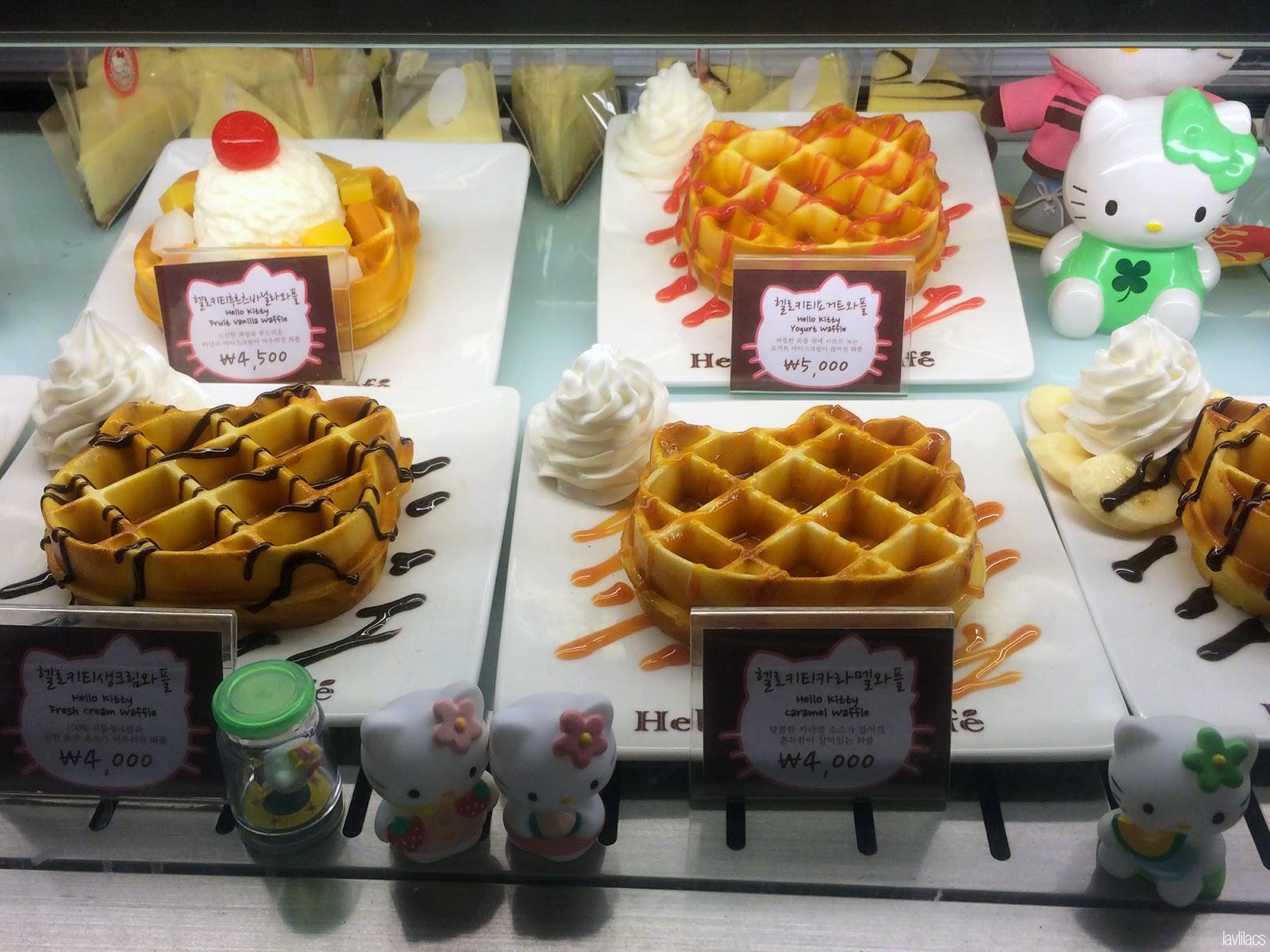 Seoul, Korea - Summer Study Abroad 2014 - Hongdae Hello Kitty Cafe waffles