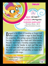 My Little Pony Smolder Series 5 Trading Card