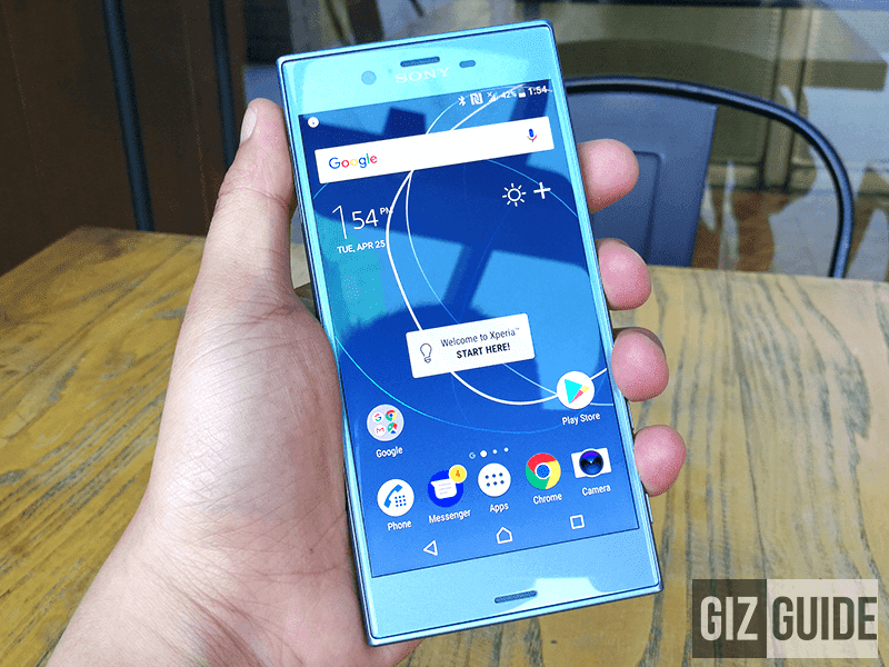 The Xperia XZs itself