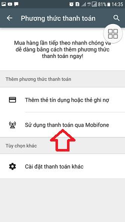 mua ứng dụng google play Mobifone