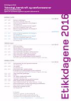Program Etikkdagene 2016