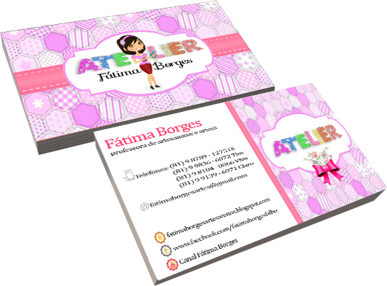 Cartão de visita Fátima Borges