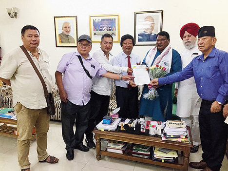 GJM delegation with Union tribal affairs minister Jual Oram in New Delhi