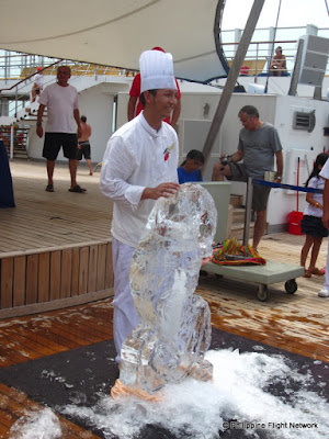 costa victoria ice carving