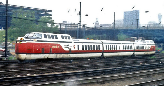 Amtrak TurboTrain 1971
