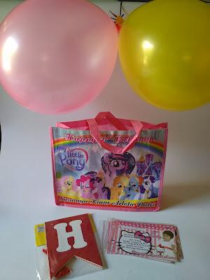 tas ultah, tas ulang tahun, tas ultah kuda ponny