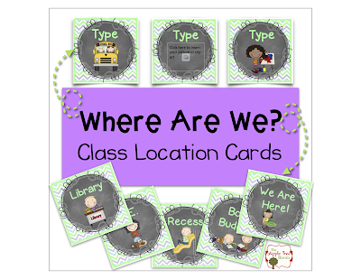 Where Are We? Class Location Cards