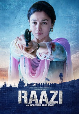 Raazi 2018 Hindi BRRip 480p 400Mb x264