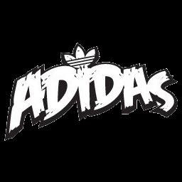 logo adidas putih