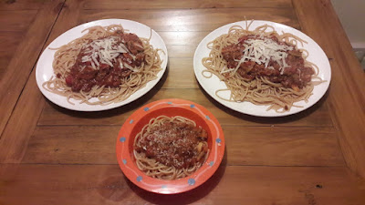 spaghetti dinner food