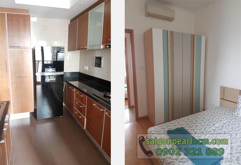 Saigon Pearl quận Bình Thạnh cho thuê - bếp và phòng ngủ