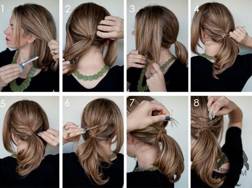 cara menata rambut pendek
