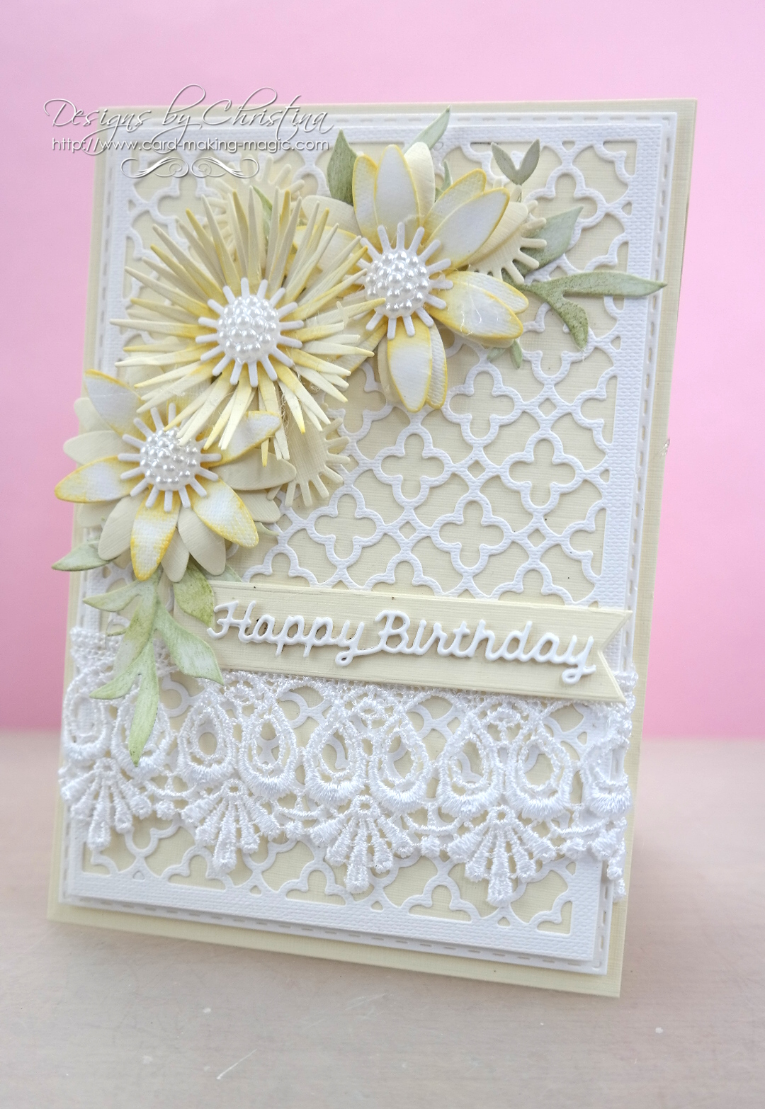 Flowers Ribbons And Pearls Tuesday Tutorial Quatrefoil