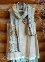шарф бохо из льна
