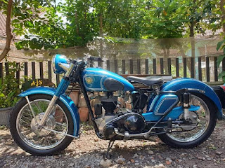 Di  jual Motor Klasik AJS 350cc tahun 1954  Jember Jatim
