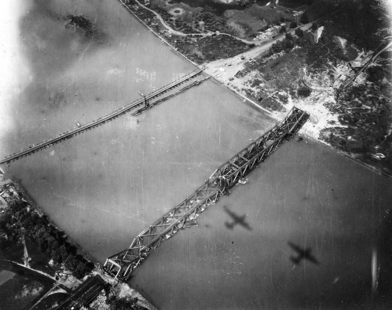 Allied bombers over Cologne, 1944.