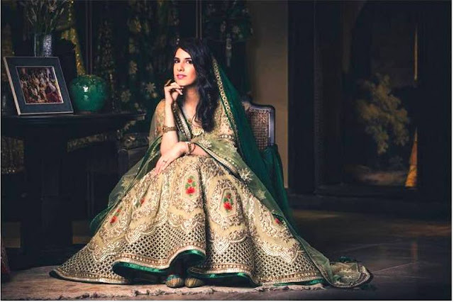 Green Heavy Embroidery Designer Lehenga