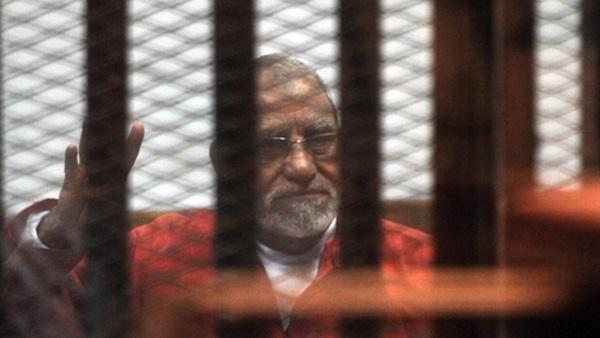 تأجيل محاكمة محمد بديع فى قضية أحداث العدوة لجلسة  20 يوليو