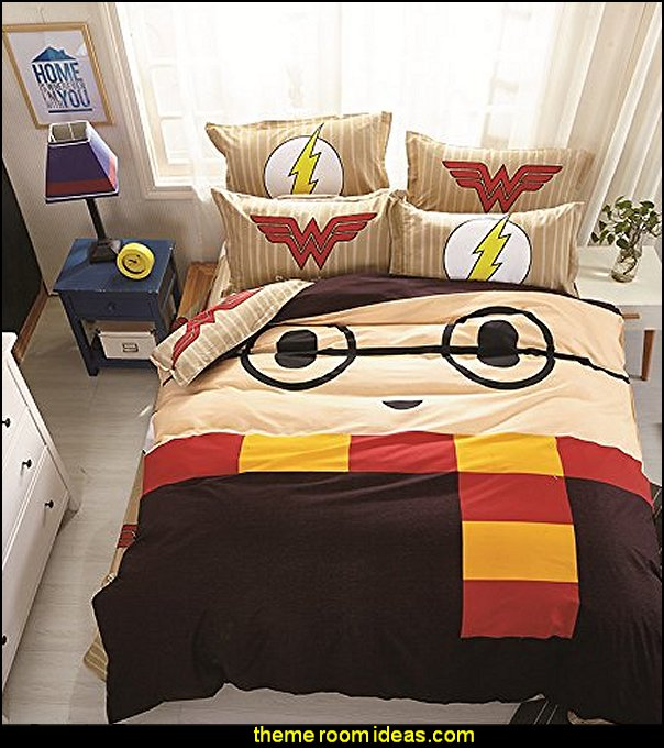 Harry Potter Duvet Cover  Harry potter themed bedrooms - Harry Potter Room Decor - Harry Potter Bedroom Ideas - Harry Potter  bedding - Harry Potter wall decals - Harry Potter wall murals - harry potter furniture - harry potter party supplies - castle decorating props - harry potter party decorations