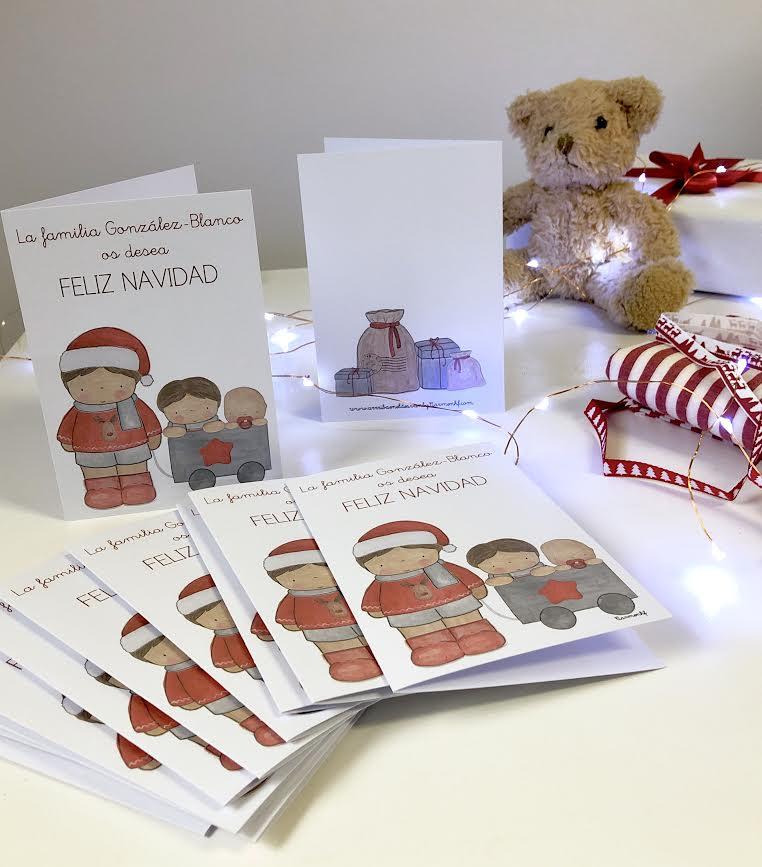 Felicitacion Navidad Personalizada Fotos.Postales De Navidad Personalizadas Decoracion Infantil