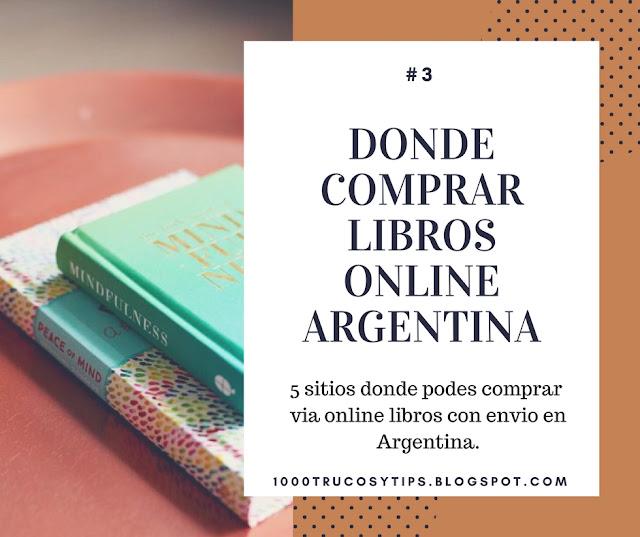 Donde comprar libros online argentina