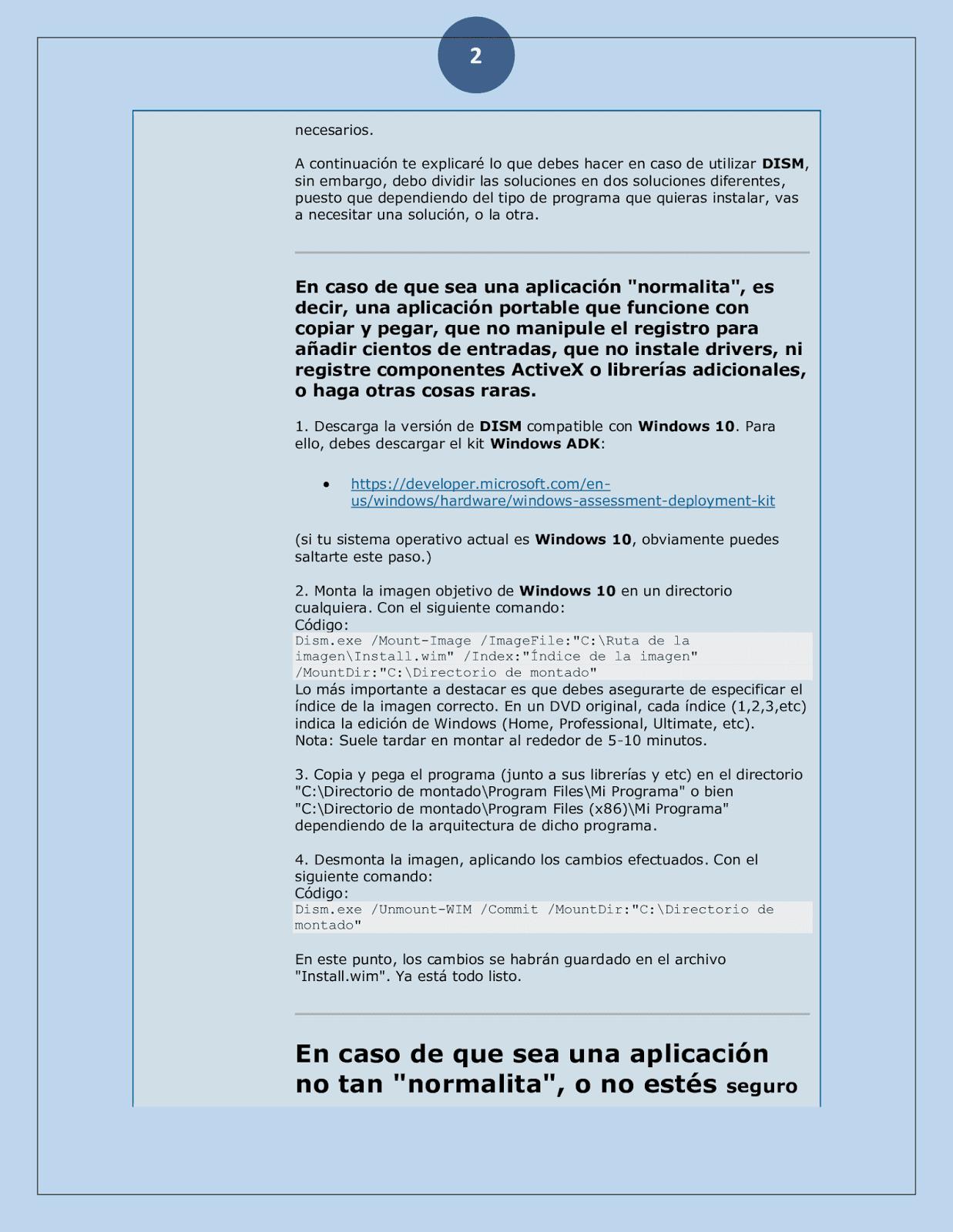 Como crear Programa en Ntlite para windows 10 | Paginas Difíciles ...