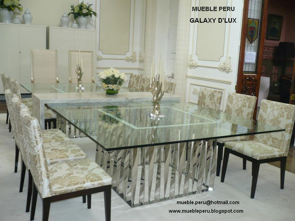 Muebles pegaso modernos comedores de acero for Comedores finos