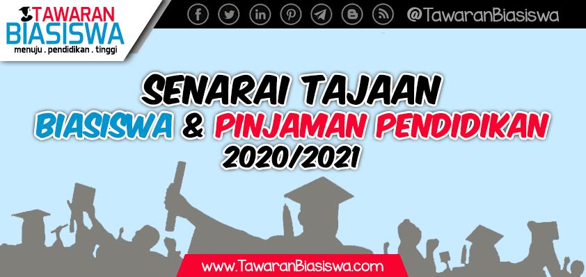 Senarai Tajaan Biasiswa dan Pinjaman Pendidikan 2020/2021