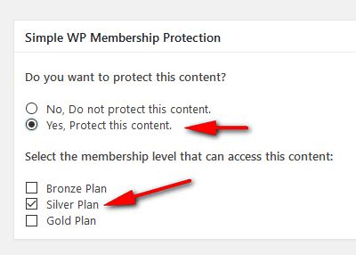 Content protection settings