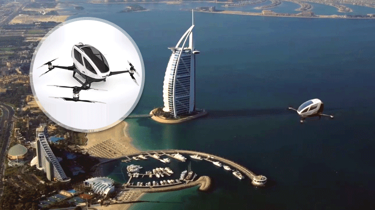 Worlds first drone taxi will launch in Dubai this summer