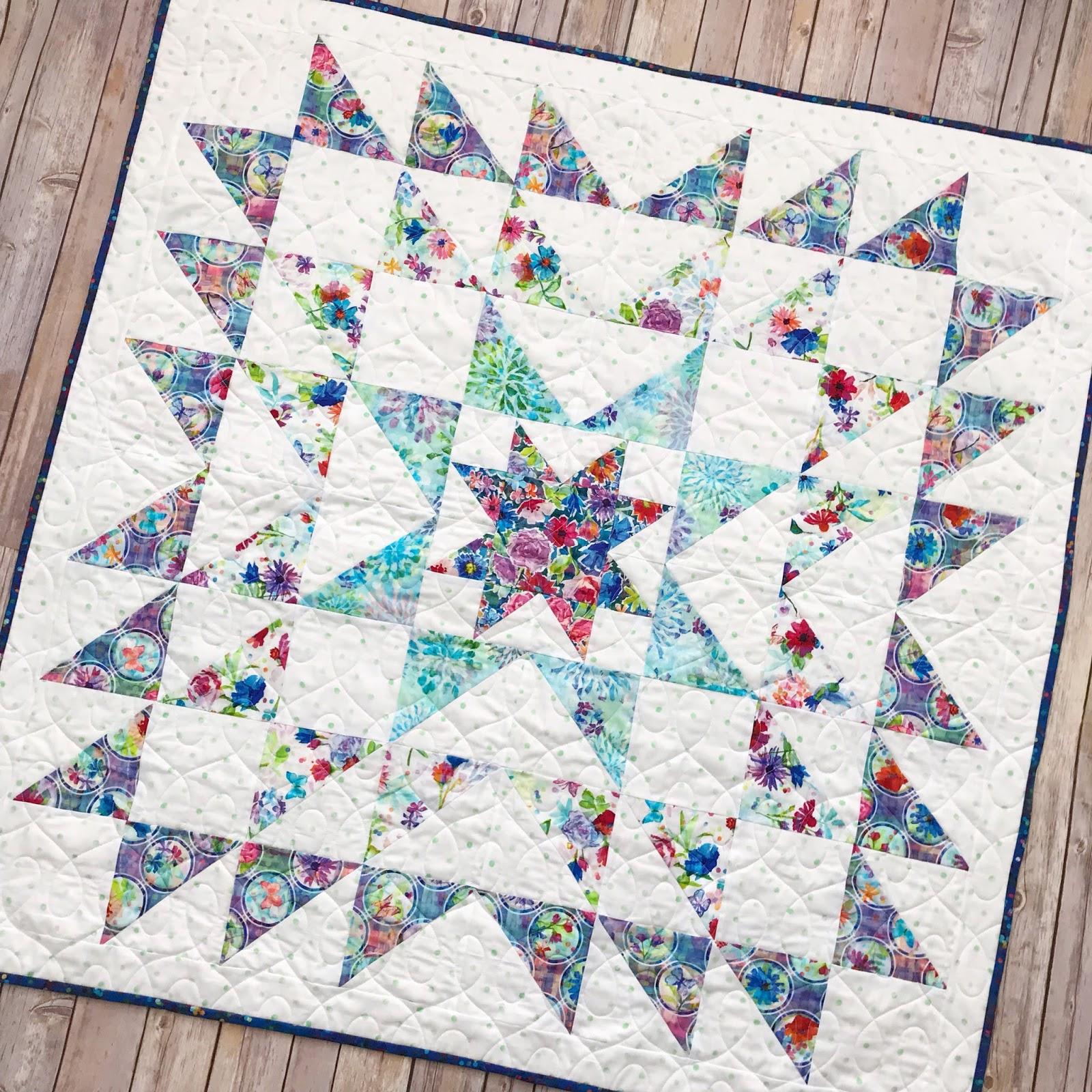 Fort Worth Fabric Studio: Blue Carolina Starburst Quilt {Free Pattern} : starburst quilt - Adamdwight.com