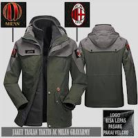 Jual Jaket Gunung Hoodie Waterproof Taktis AC Milan