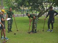 Prajurit Korem 071/Wijayakysuma Berolaraga Sambil Siaga Pengamanan Menjelang Pemilu