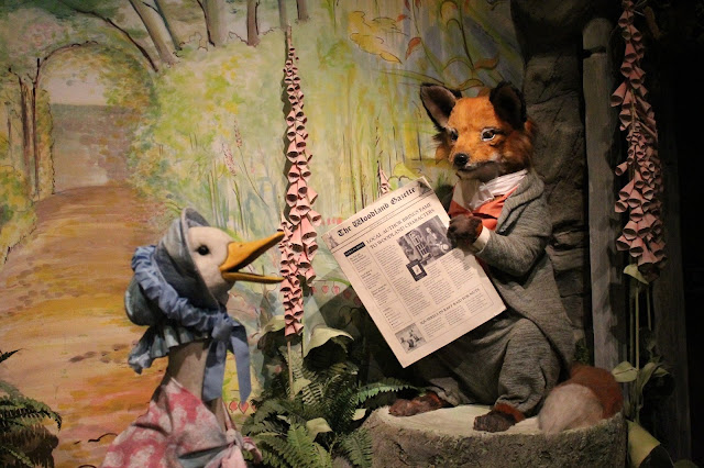 The World of Beatrix Potter Attraction Jemima Puddle-duck and Mr Tod life like figures