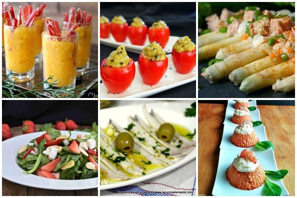 Recetas de entrantes y aperitivos saludables y ligeros