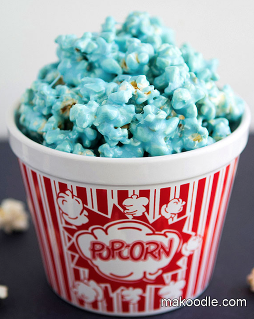 blue football game party food ideas or baby shower