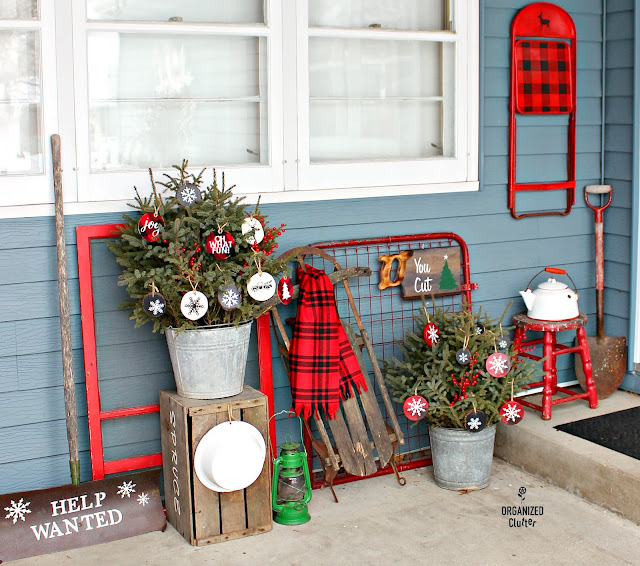 The Best of Organized Clutter 2018 #upcycling #repurposing #stenciling #buffalocheck #oldsignstencils #junkgarden #gardenjunk #flowergarden #holidaydecorating #farmhousestyle