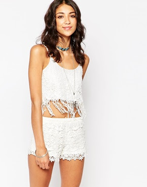 Parisian fringed crochet cami top, $14.40 from ASOS